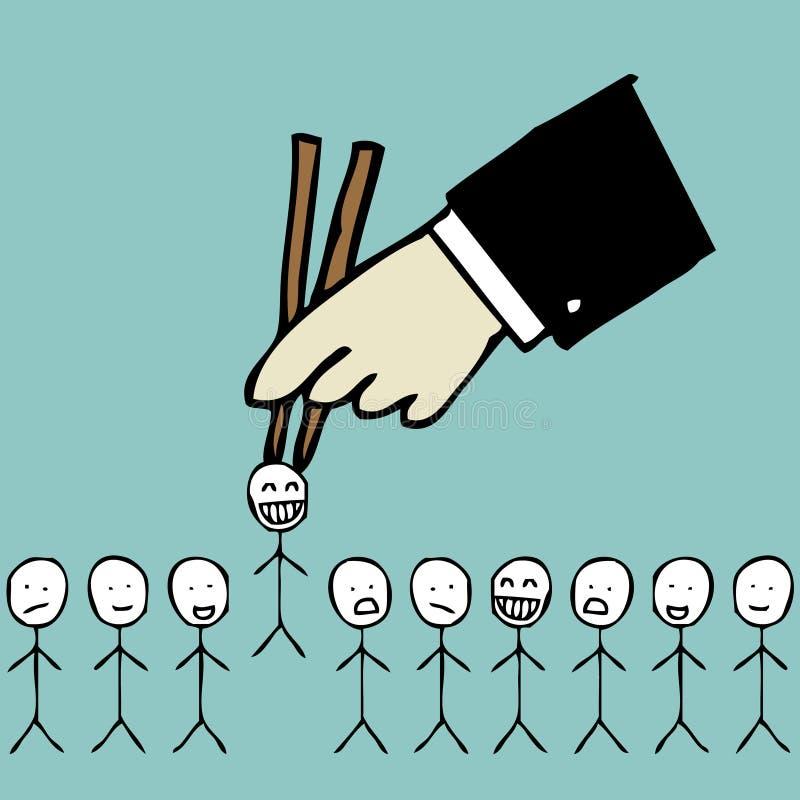 Escolhendo o candidato ilustração do vetor