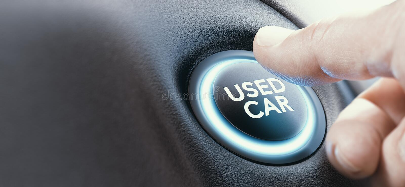 Escolhendo um carro usado ilustração stock