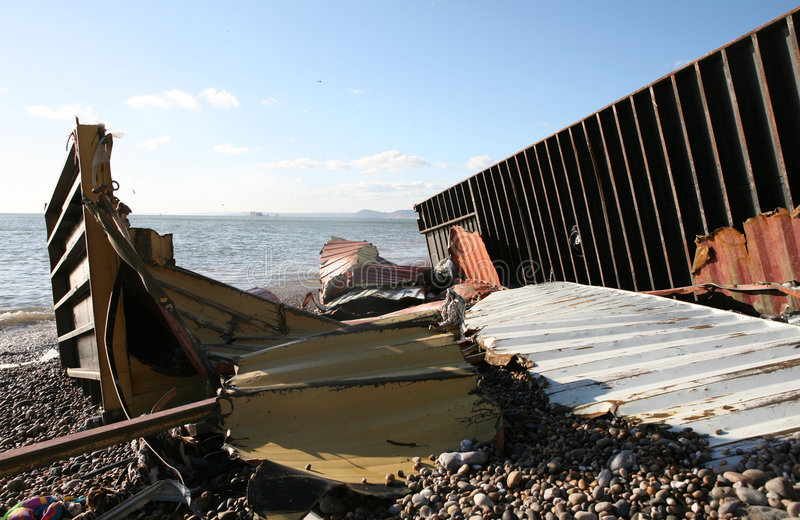 Escombros Del Naufragio Foto de archivo editorial