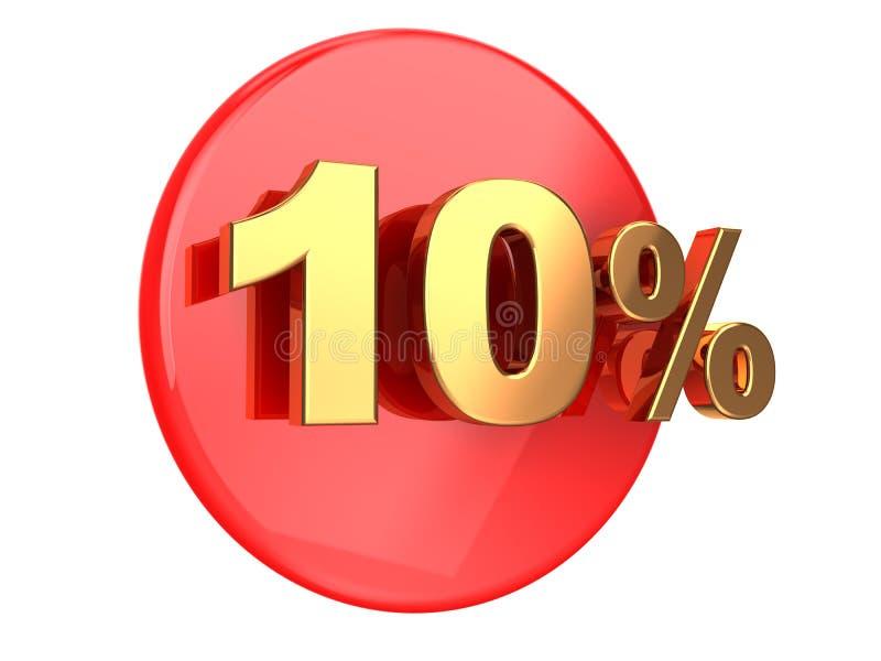 Escompte 10 pour cent illustration libre de droits
