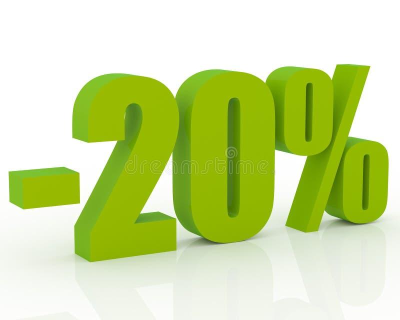 escompte de 20% illustration libre de droits