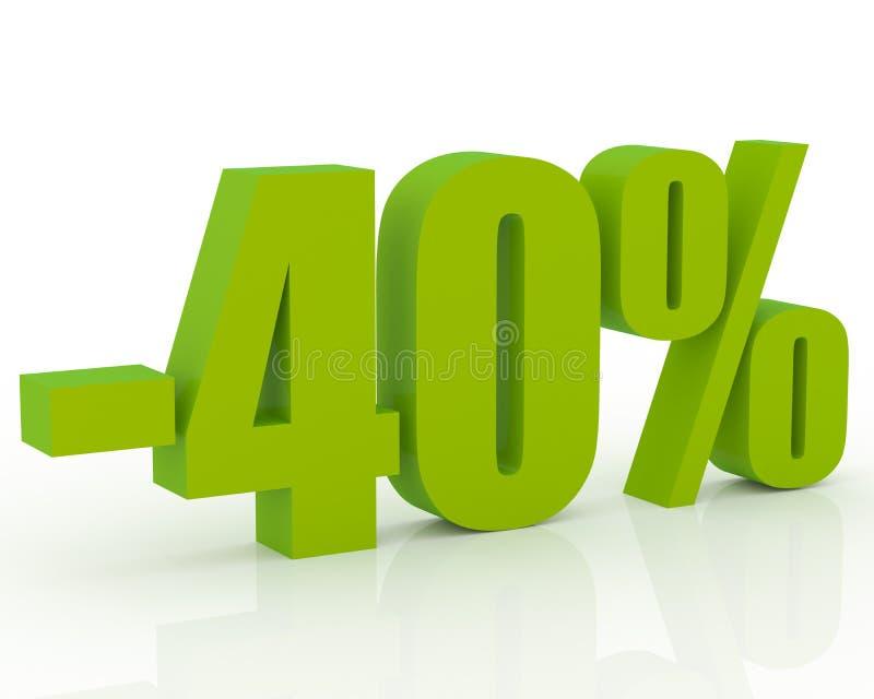 escompte de 40% illustration libre de droits