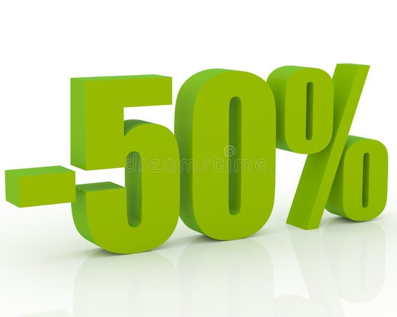 escompte de 50% illustration stock