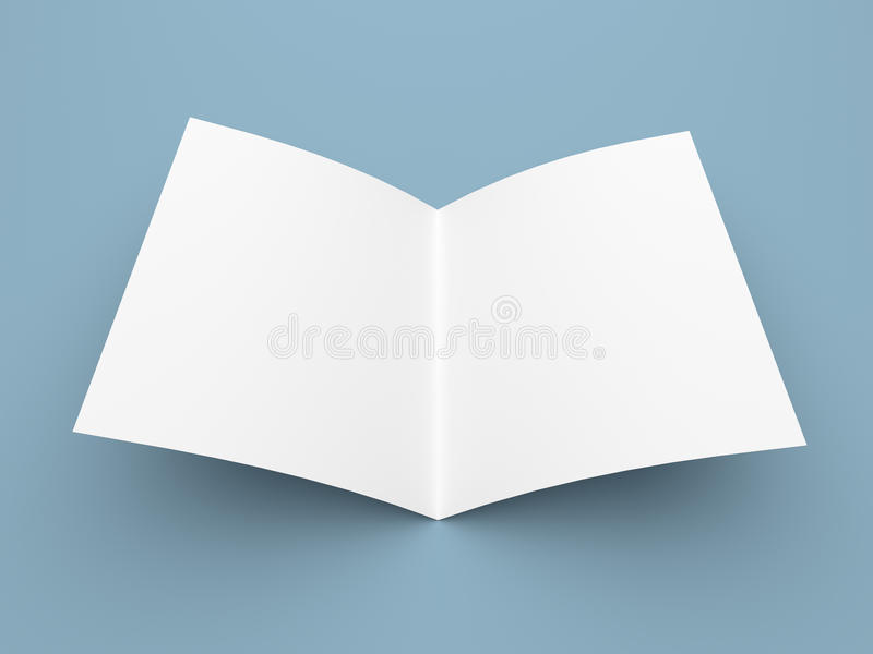 Esconda el aviador, el folleto, la postal, la tarjeta de visita o el folleto doblada ilustración del vector