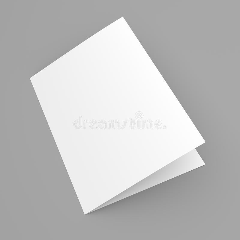 Esconda el aviador, el folleto, la postal, la tarjeta de visita o el folleto doblada libre illustration