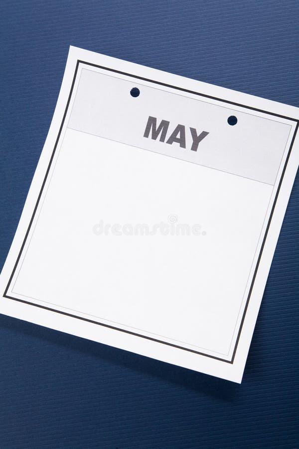 Esconda el calendario fotografía de archivo libre de regalías