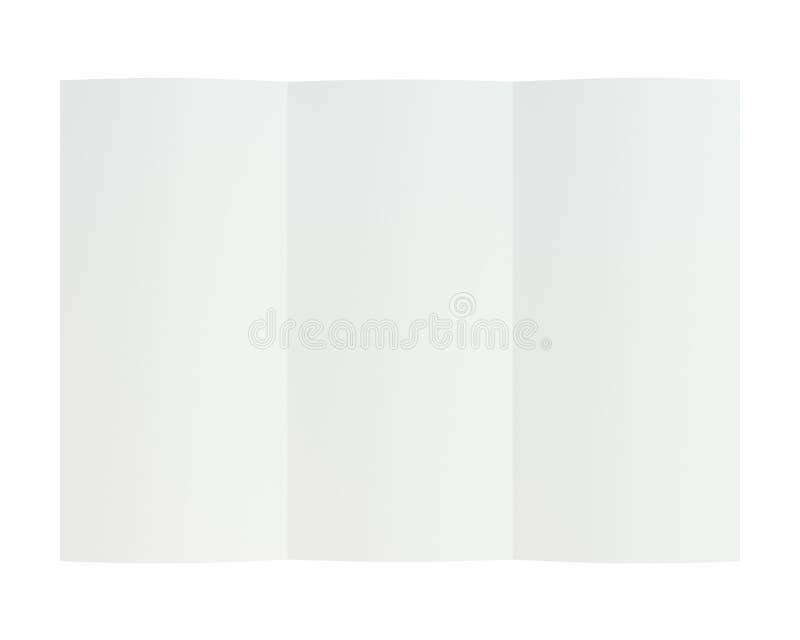 Esconda el Libro Blanco doblado del prospecto representación 3d fotografía de archivo libre de regalías