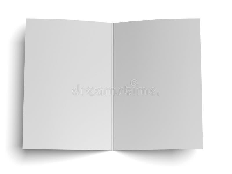 Esconda el papel abierto libre illustration