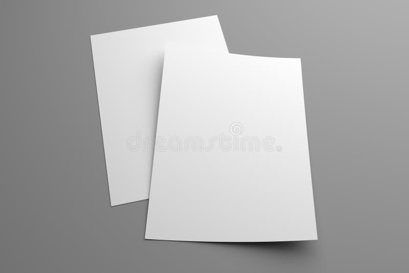 Esconda la maqueta de dos aviadores del ejemplo 3D en gris ilustración del vector