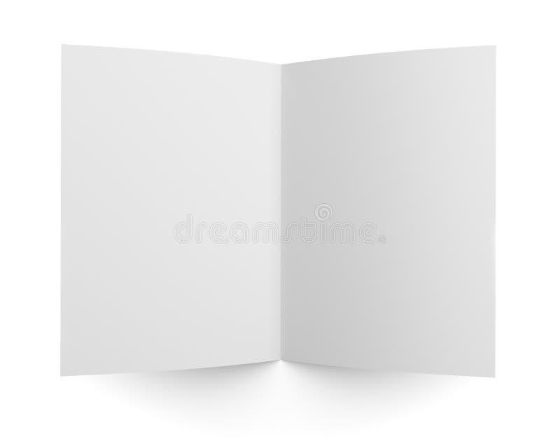 Esconda la maqueta doblada del aviador, del folleto o del folleto stock de ilustración