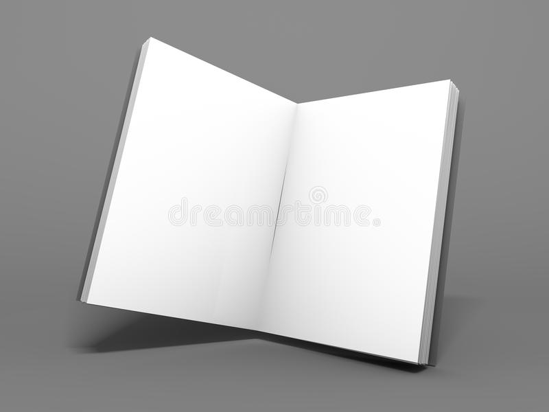 Esconda la revista abierta, libro, folleto del folleto o 3d libre illustration