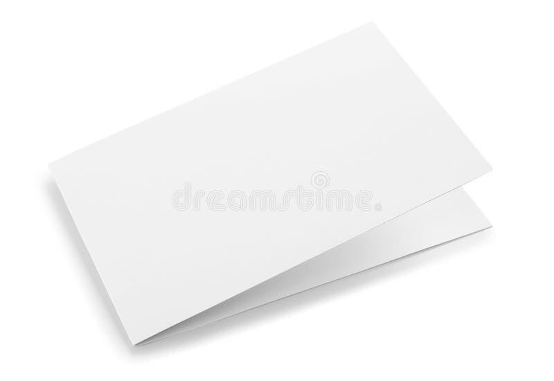 Esconda la tarjeta doblada  imagen de archivo