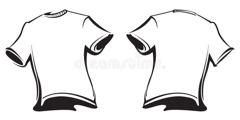 Esconda las camisetas ilustración del vector