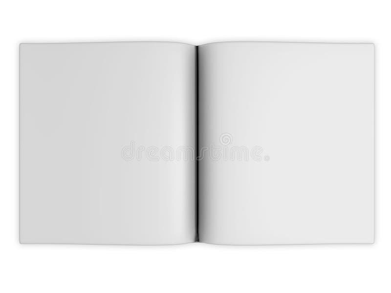 Esconda las paginaciones abiertas del libro libre illustration