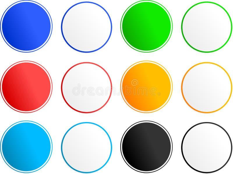 Esconda los iconos de la muestra ilustración del vector