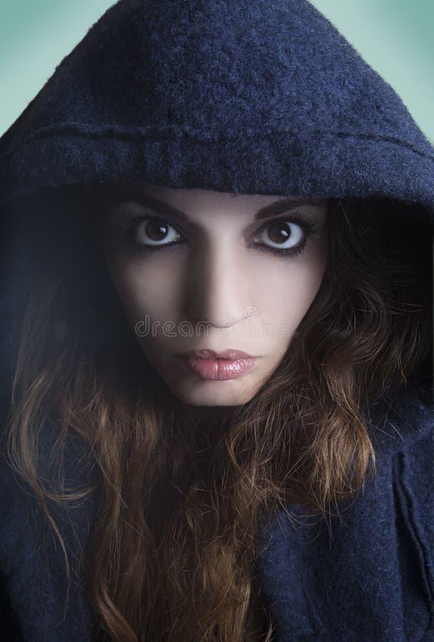 Esconder da mulher fotos de stock royalty free
