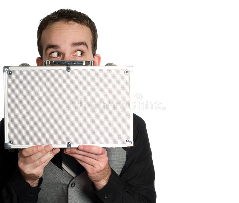 Esconder do empregado foto de stock