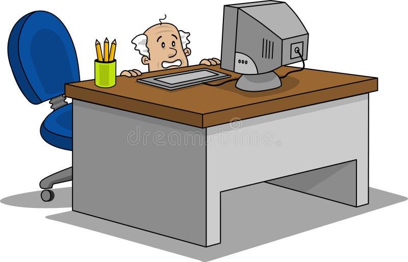 Esconder do homem de negócio ilustração stock