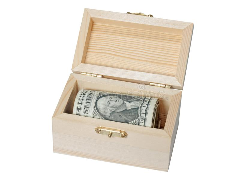 Esconderijo do dólar da caixa imagens de stock royalty free
