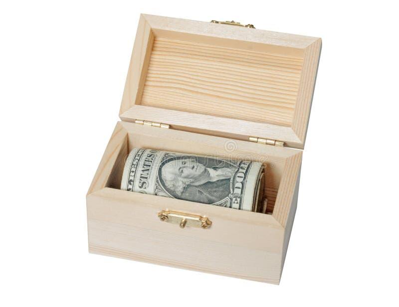 Escondite del dólar del pecho imágenes de archivo libres de regalías