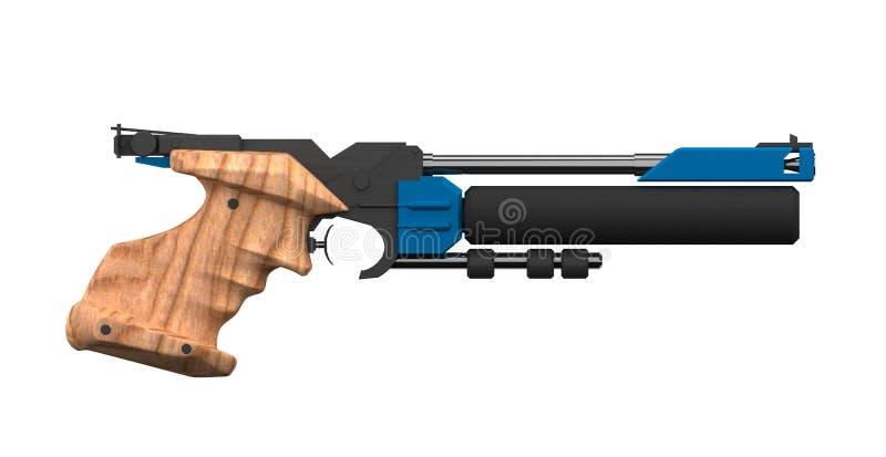 Escopeta de aire comprimido atlética, perfil lateral foto de archivo libre de regalías