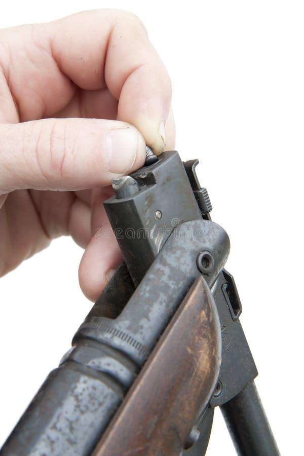 Escopeta de aire comprimido del cargamento fotos de archivo
