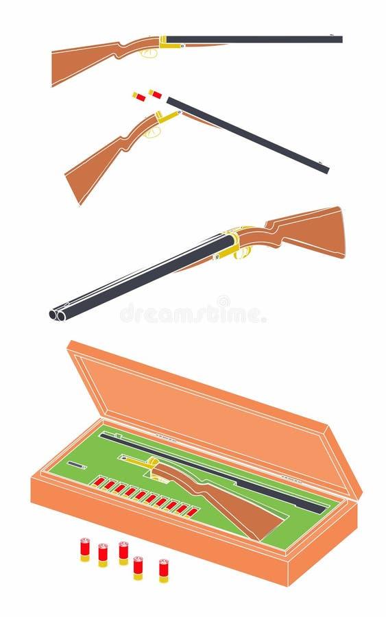 escopeta de 12 indicadores sin esquema stock de ilustración