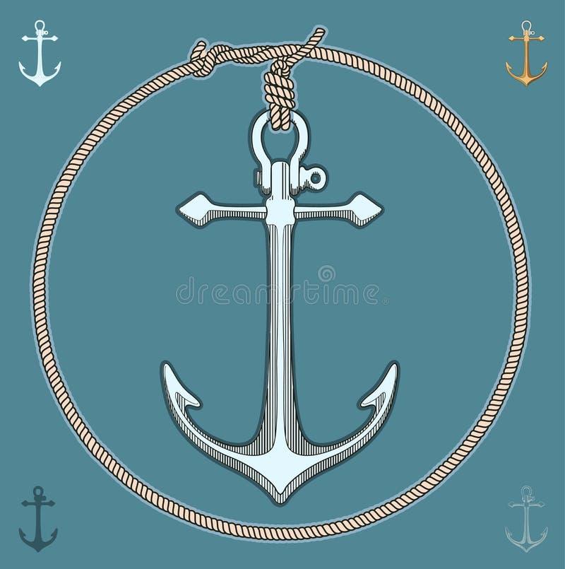 Escora náutica ilustração stock