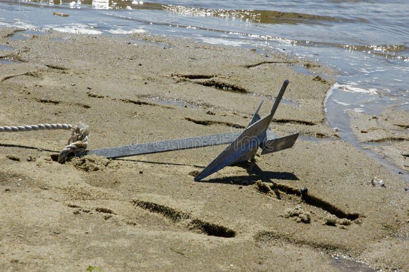 Escora na areia fotografia de stock