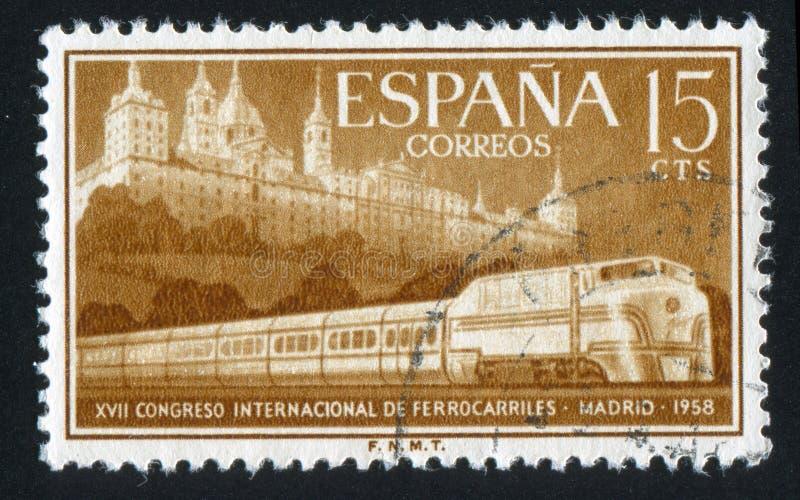 Escorial i Usprawniający pociąg zdjęcia stock