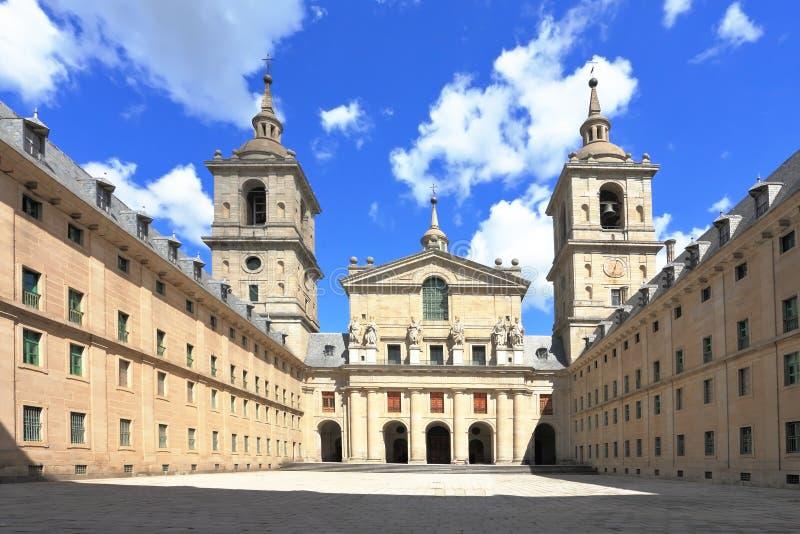 escorial madrid kloster arkivbild
