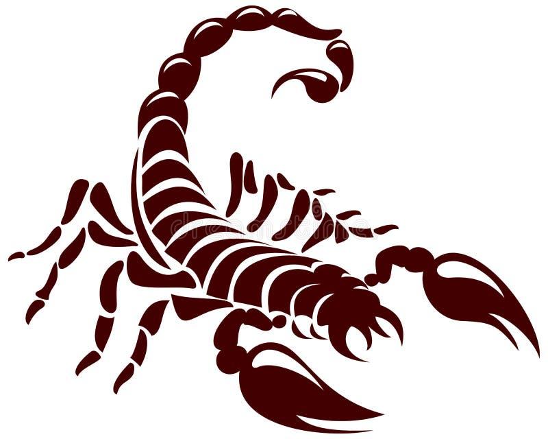 Escorpión ilustración del vector