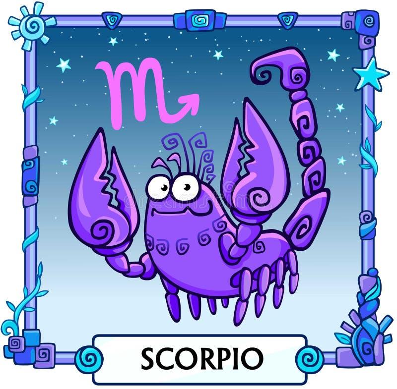 Escorpión de la muestra del zodiaco ilustración del vector