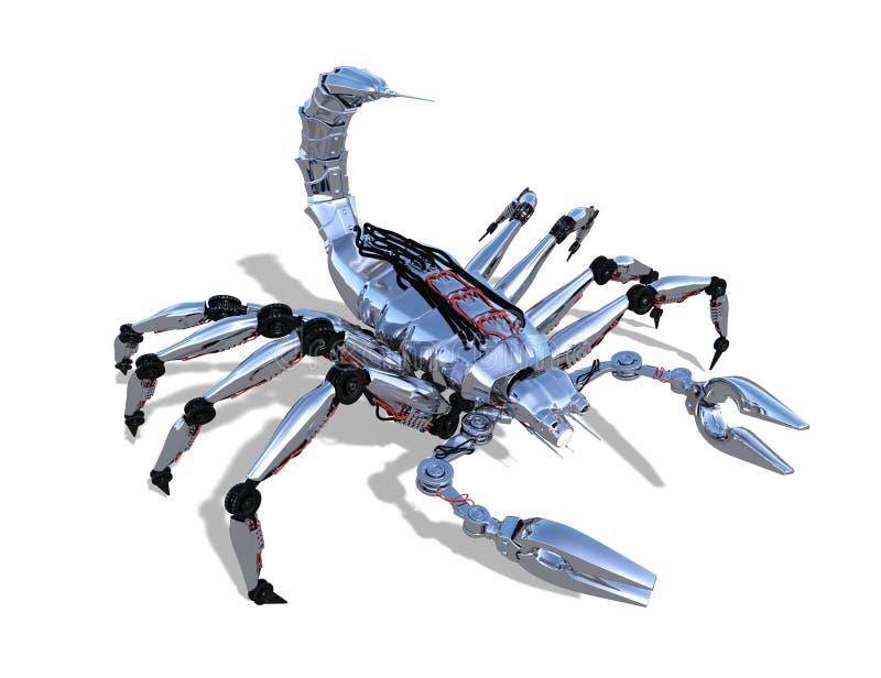Escorpión del robot stock de ilustración