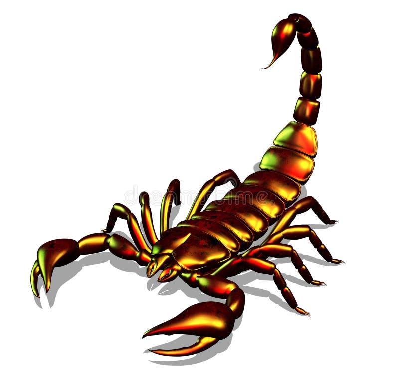 Escorpión metálico stock de ilustración
