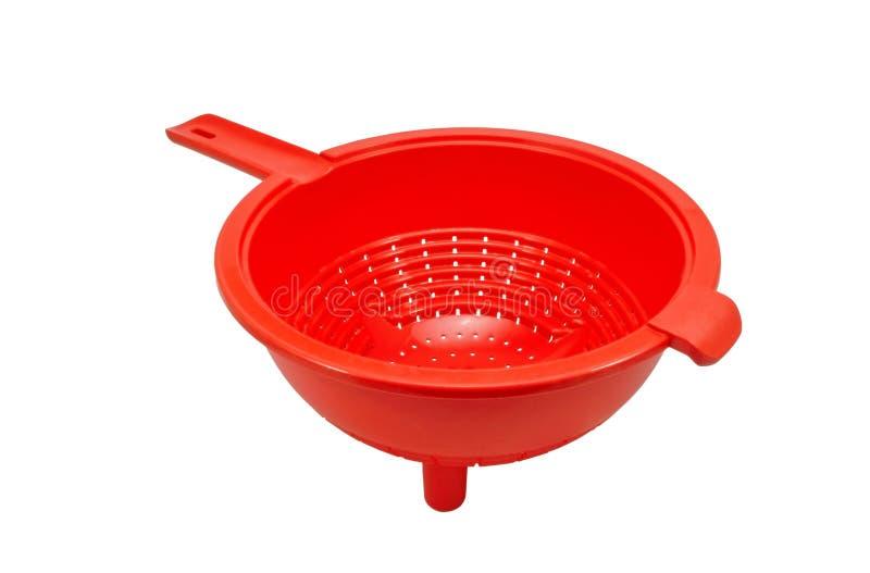 Escorredor vazio vermelho imagem de stock