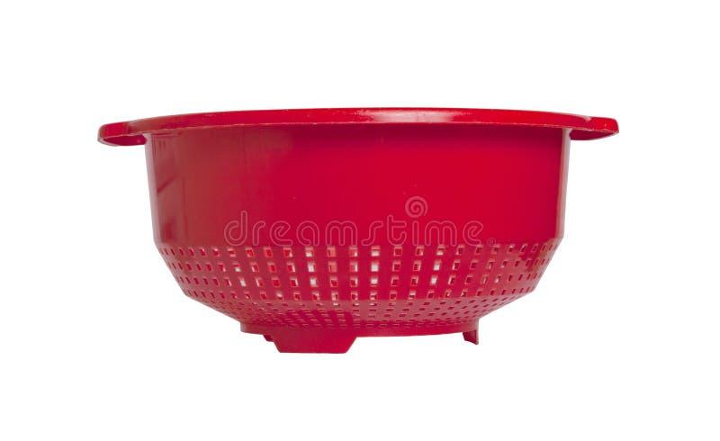 Escorredor vazio vermelho isolado imagens de stock