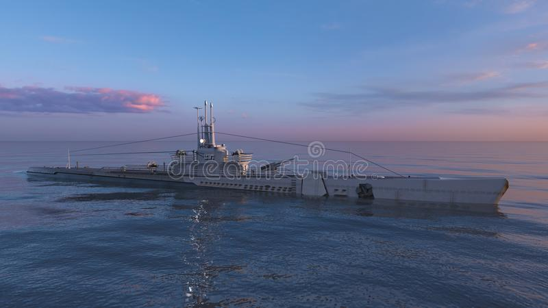 Escort ship royalty free stock photo