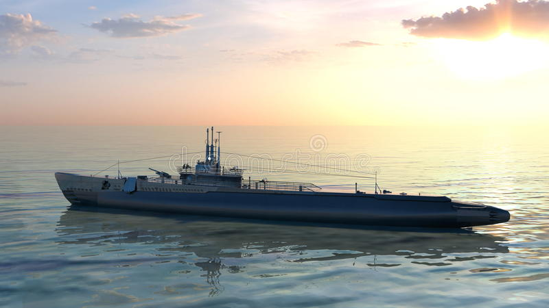 Escort ship royalty free stock images