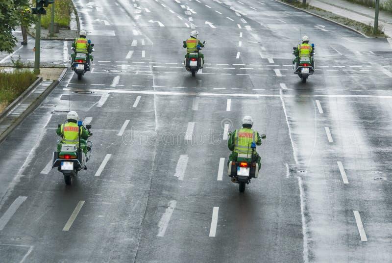 Escorte policière photographie stock