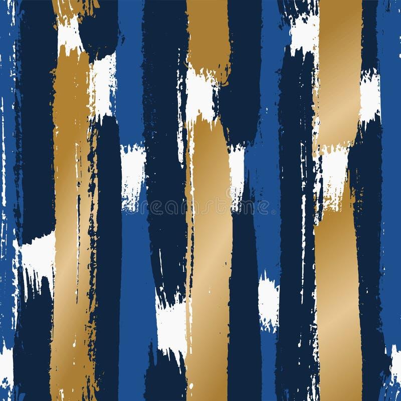 A escova abstrata afaga o teste padrão ilustração royalty free