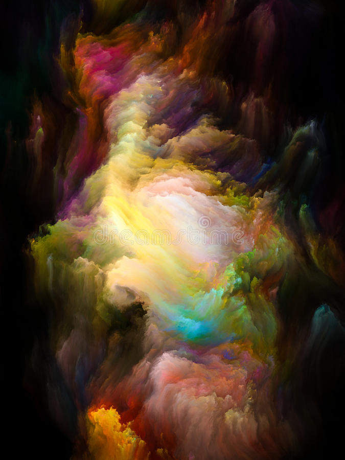 Escova colorida do Fractal ilustração royalty free
