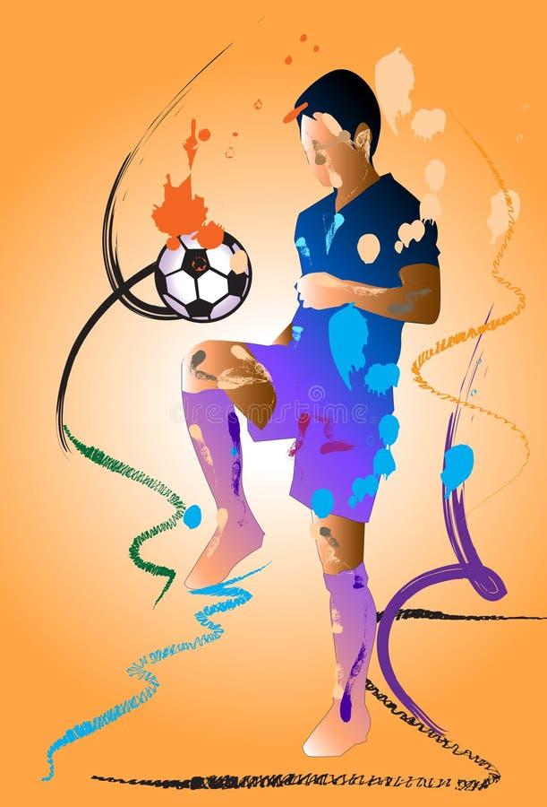 Escova da ação do futebol ilustração do vetor