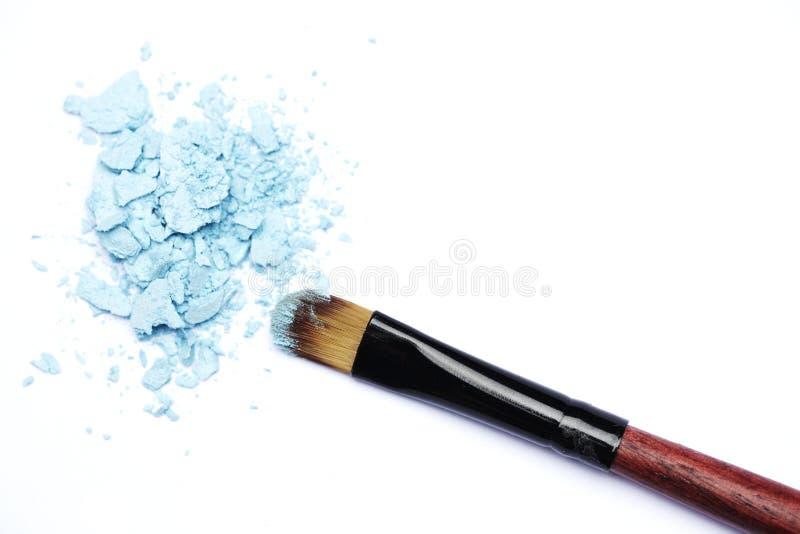 Escova da composição com sombras azuis imagens de stock