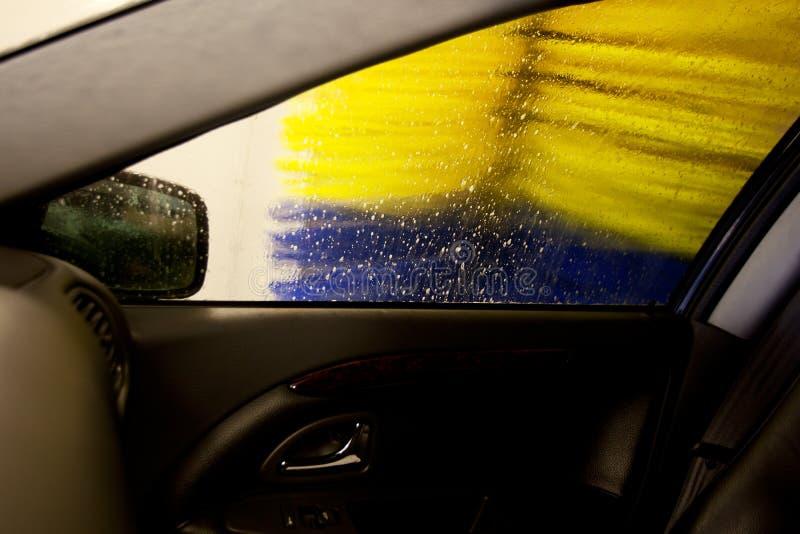 Escova da lavagem de carro imagens de stock royalty free