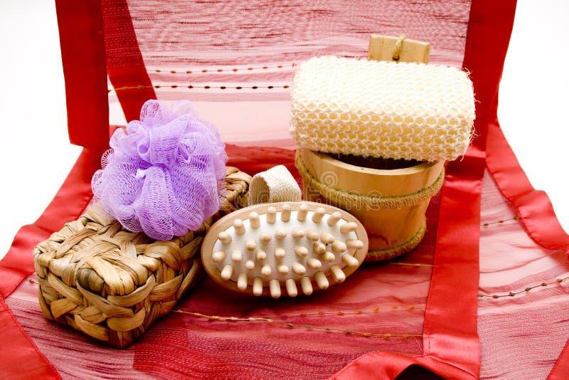 Escova da massagem imagens de stock