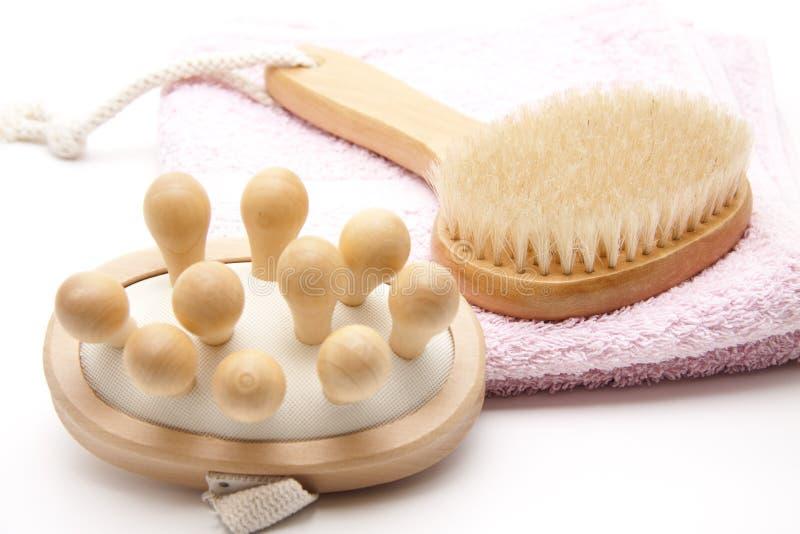 Escova da massagem para a saúde fotografia de stock royalty free