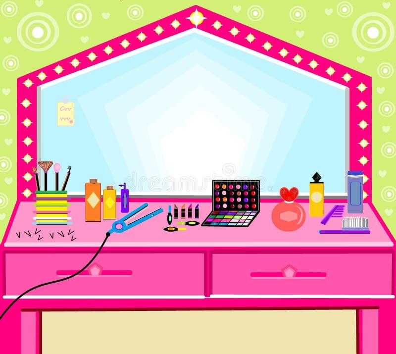Escova das escovas do ferro dos utensílios da beleza do cabeleireiro de Iludtration foto de stock royalty free