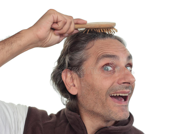 Escova de cabelo imagens de stock royalty free