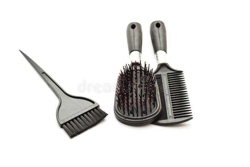 Escova de cabelo diferente imagem de stock royalty free